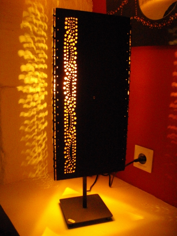 lampes en ardoise. Black Bedroom Furniture Sets. Home Design Ideas